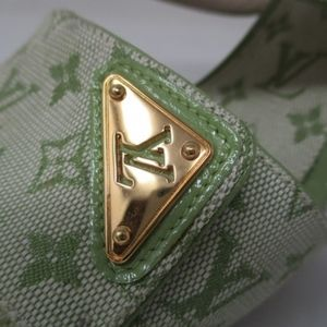 Louis Vuitton monogram retro green heels size 37.5